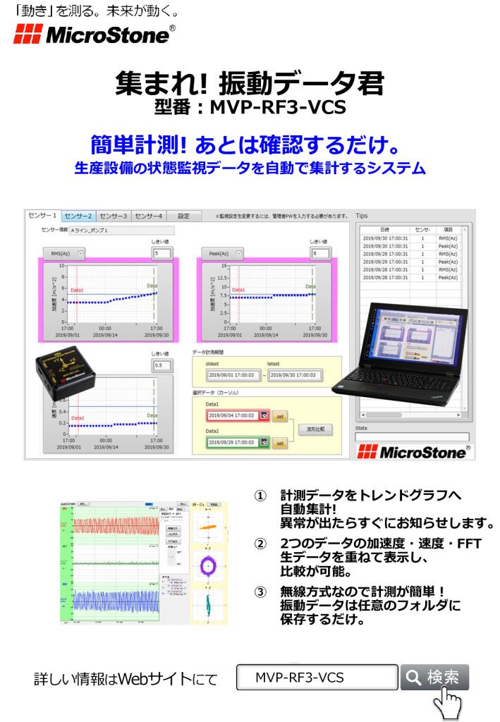 集まれ! 振動データ君 MVP-RF3-VCS カタログ