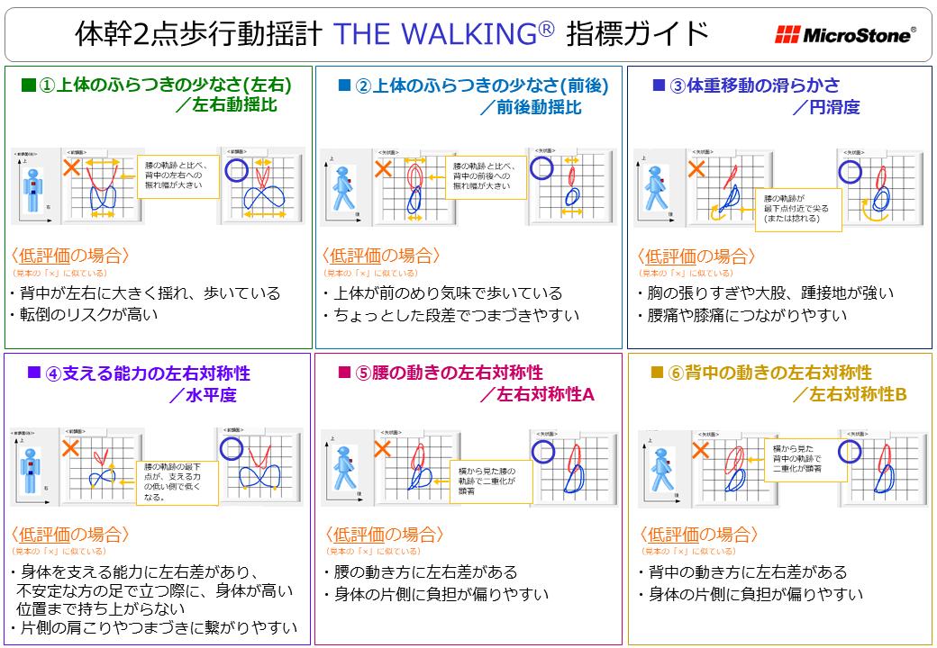 THE WALKING コメント版 指標内容説明